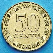 Литва 50 сенти 2000 год.