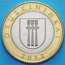 Литва 2 лита 2012 год. Друскининкай.