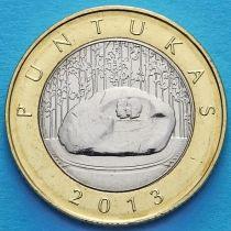 Литва 2 лита 2013 год. Пунтукас.