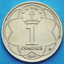 Таджикистан 1 сомони 2001 год. Исмаил Самани.