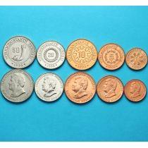 Туркменистан набор 5 монет 1993 года