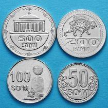 Узбекистан набор 4 монеты 2018 год.