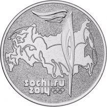 СОЧИ 2014 Факел 25 рублей 2014